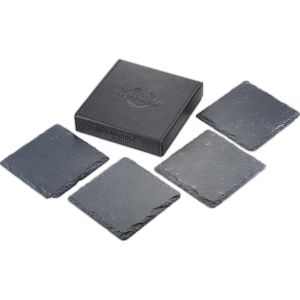 Laguiole® Black Slate Coaster Set
